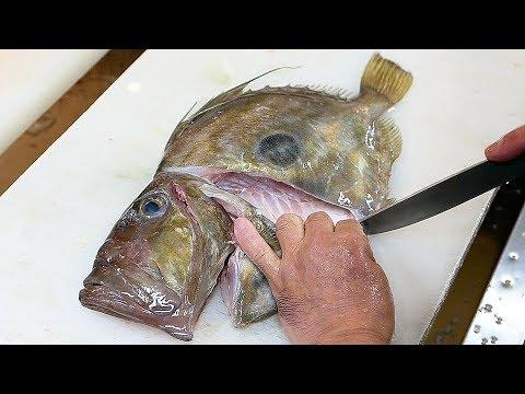 Japanese Street Food - JOHN DORY Sashimi Okinawa Seafood Japan