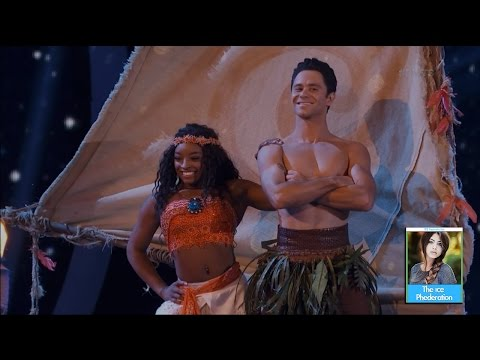 Dancing with the Stars 24 - Simone Biles & Sasha   LIVE 4-17-17