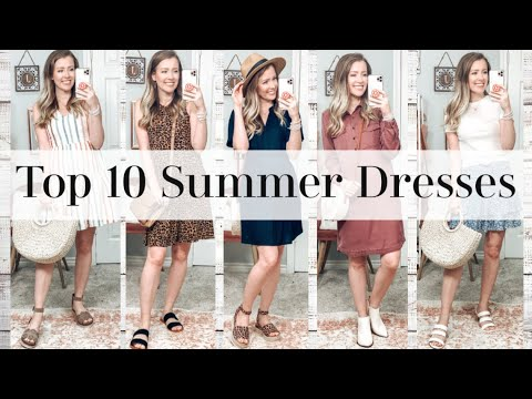 TOP 10 SUMMER DRESSES! My Favs From Walmart, Old Navy, Target, And American Eagle!!