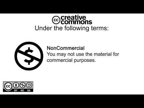 Creative Commons CC BY NC SA 4 0 marking free to use