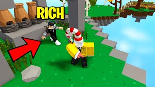 RICHEST PLAYER IN ROBLOX SKYBLOCK... MAYBE..
