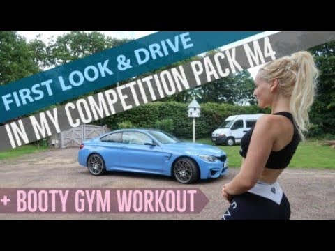 My BMW M4 Competition Pack and Gym Booty Workout - Alyssa Rush Auto