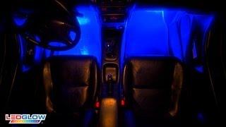 ledglow s 4pc blue led interior lighting kit