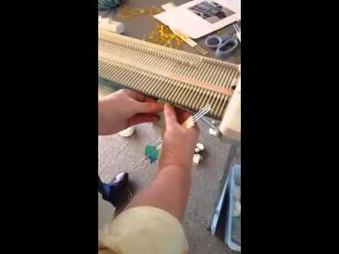 machine knitting stormy weather right front #lk150 - YouTube