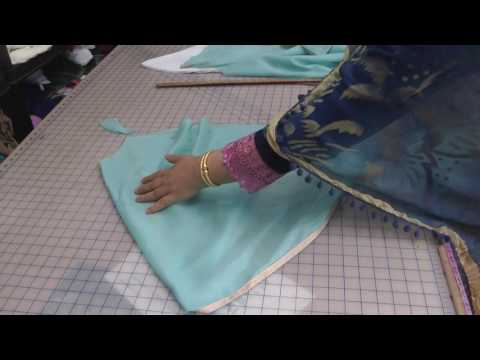 tulip salwar cutting
