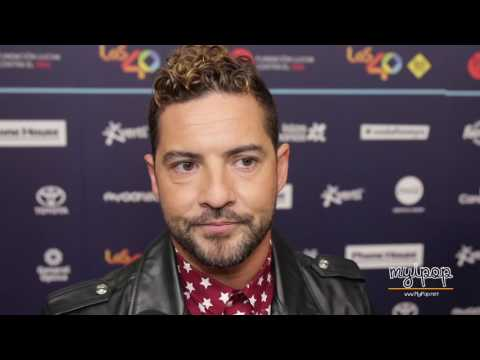 David Bisbal   Entrevista   Los 40 Music Awards 2016