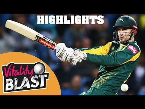 Alex Hales Stars In Quarter-Final Play-Off | Yorkshire v Notts | Vitality Blast 2018 - Highlights
