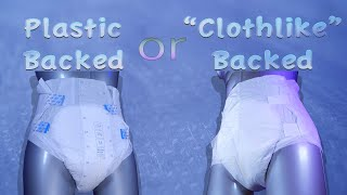 Plastic backed or clothlike backed,  what's best for me?  #adultdiaper