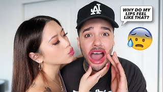 Kissing My Boyfriend With EXTREME LIP PLUMPER! *Gone Wrong*