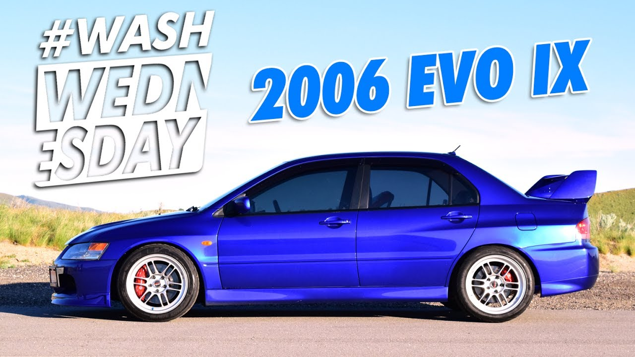 jasons 2006 mitsubishi evo ix gsr washwednesday