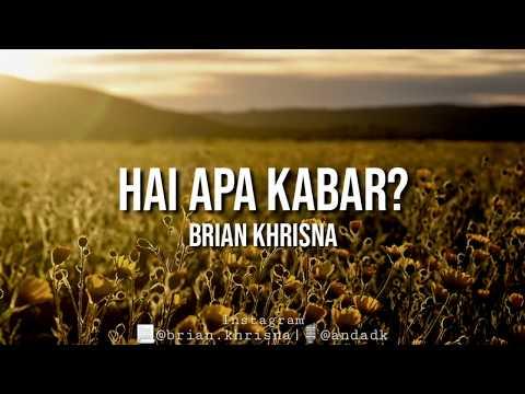 Musikalisasi Puisi | HAI APA KABAR? | Brian Khrisna | Dika Andani