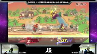JS XIX -  Vashes (Marth, Roy) vs. Tweek (Wario, Bowser Jr.)  - Smash 4 Winners Semis