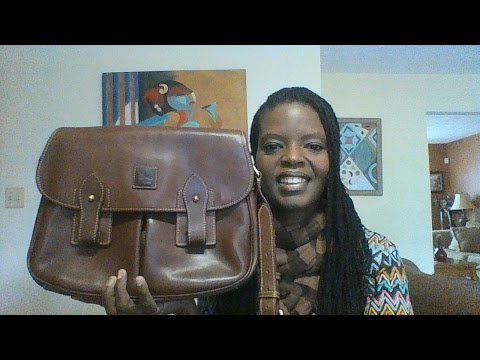 Dooney & Bourke Florentine Leather Saddle Bag (Chestnut)