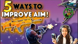 REALLY IMPROVE AIM: 5 PRO TIPS | FORTNITE BATTLE ROYALE! GET BETTER ACCURACY.
