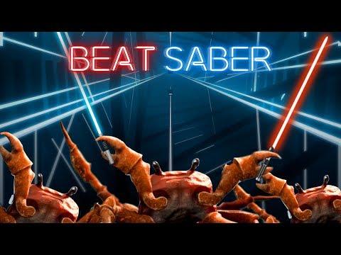 Having a Crab Rave in Beat Saber