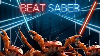 Having a Crab Rave in Beat Saber