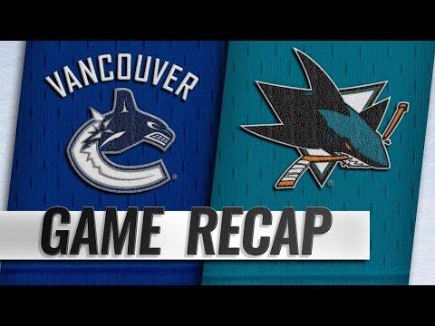 Sharks edge Canucks on Pavelski's goal