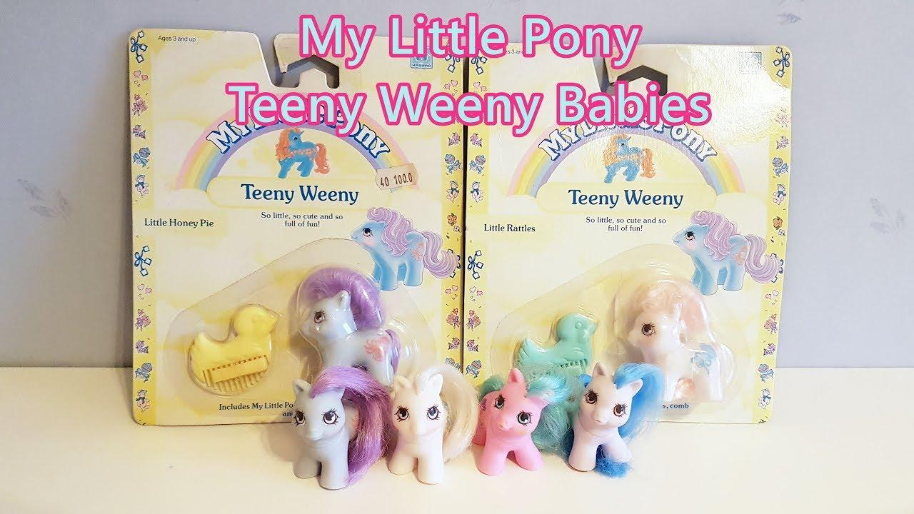 f38b79aaf Pony Throwback Teeny Weeny Babies | G1 My Little Pony Mint on Card Vintage  Generation 1 Toy