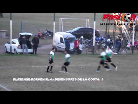 GOLES PLATENSE VS DEFENSORES LA COSTA CLAUSURA 2018