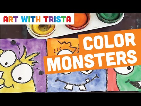 art with trista complementary colors monsters step by step youtube