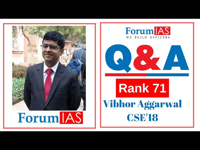 Vibhor Aggarwal AIR 71 CSE 2018| Pol. Sc and IR Optional |2nd Attempt