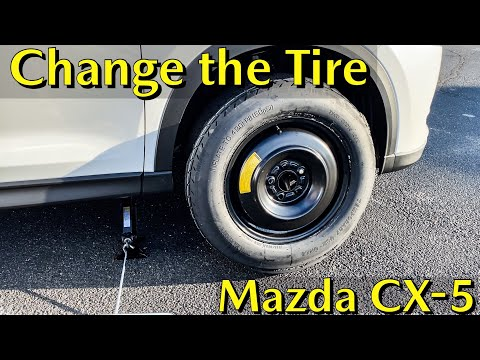 Mazda CX-5 | How to Change a Flat Tire and Install the Spare Tire