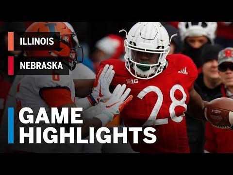 Highlights: Illinois Fighting Illini vs. Nebraska Cornhuskers   Big Ten Football