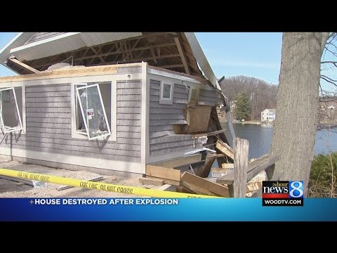 House destroyed after explosion near Belding