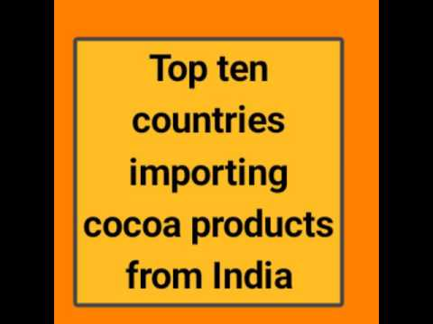 Top ten countries importing cOCOA products