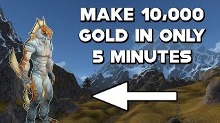 World Of Warcraft Gold Farm How To Make 10,000 Gold In 5 Minutes