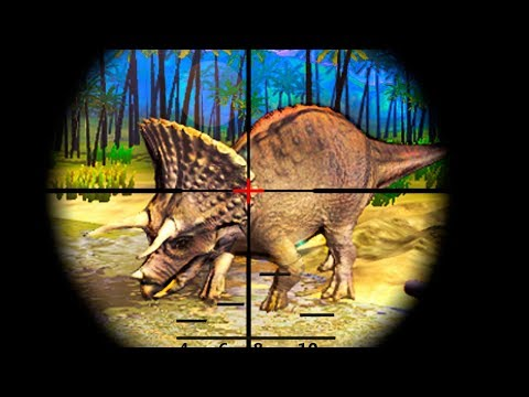 Dinosaur Hunter 2018 Jurassic Survival (by iExtend Games) Android Gameplay Trailer