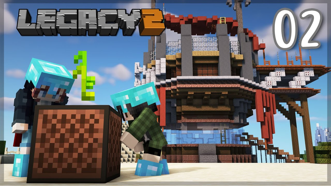 Building the COMMUNITY STORAGE! | Legacy SMP: Episode 02 | Minecraft 1.16 Survival Let's Play