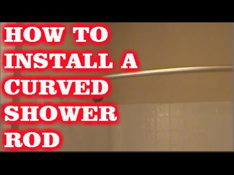 HOW TO INSTALL A CURVED SHOWER ROD  YouTube