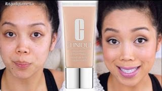 oily skin clinique stay matte foundation first impression review itsjudytime