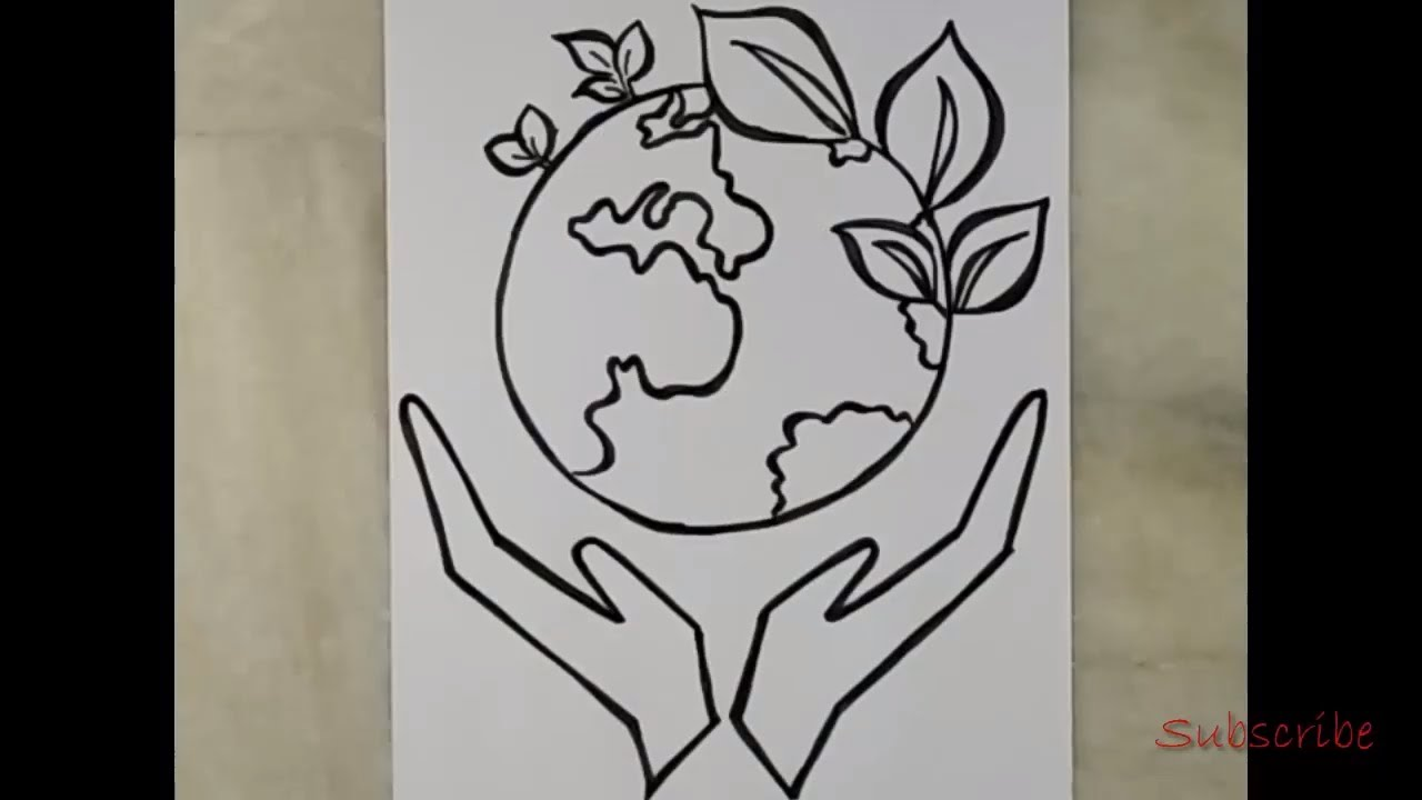 How To Draw Save Earth Step By Step Artistica Youtube