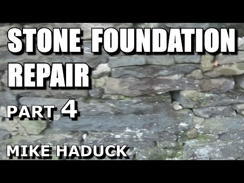 Stone foundation repair (inside) part 4 of 4 (Mike Haduck)