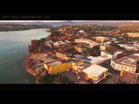 Port Vila Vanuatu drone footage