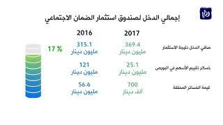 النتائج المالية لصندوق الضمان الاجتماعي لعام 2017 - (4-3-2018)
