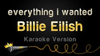 Gambar cover Billie Eilish - everything i wanted (Karaoke Version)