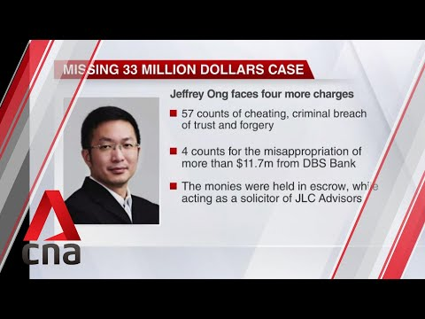 Lawyer Jeffrey Ong charged with 4 more counts of criminal br