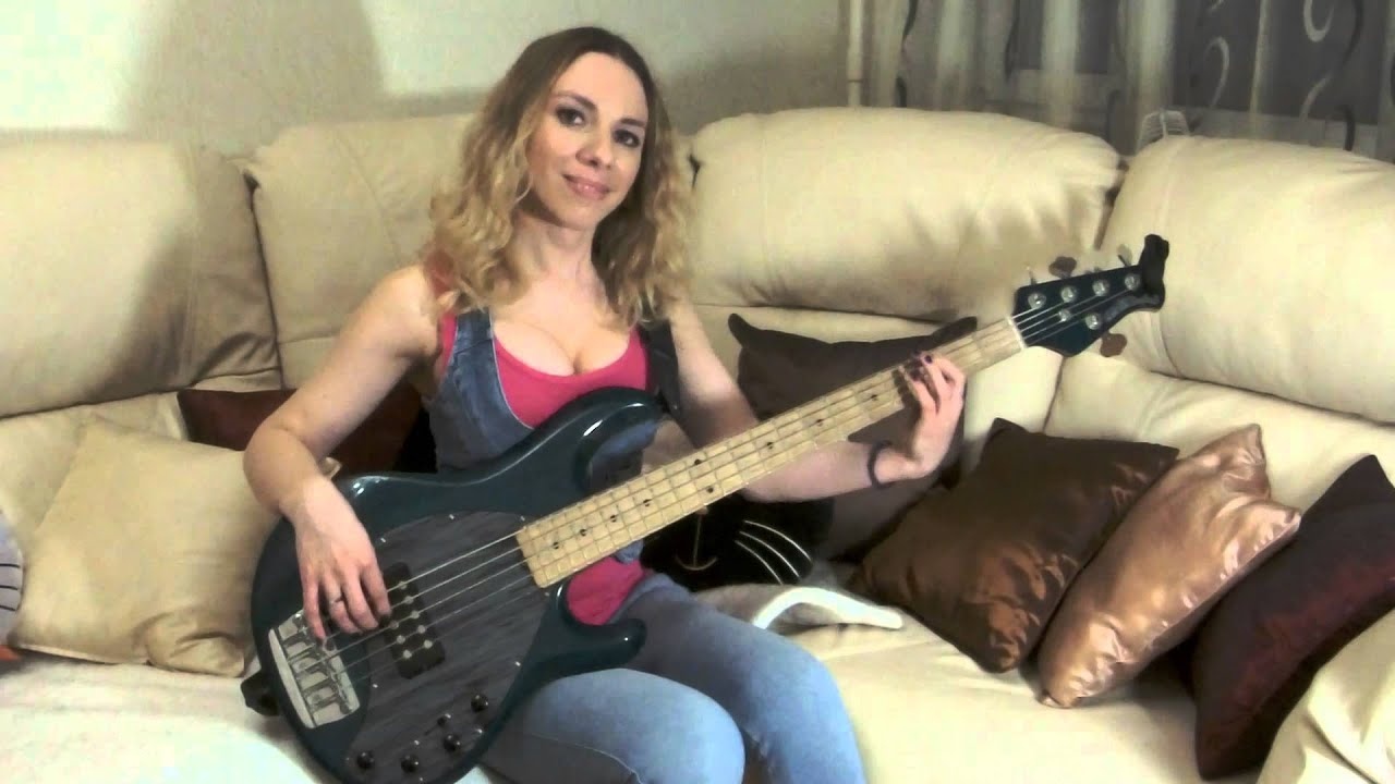 5 Мобильная настройка пяти струнной бас гитары - YouTube