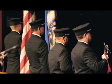 Color Guard Graduation Performance