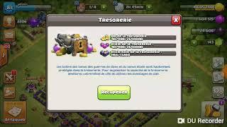 Clash of clans : maxon hdv 9 je max des mur