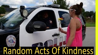 Random Acts of Kindness: Giving Police Flowers, Huge Tips To Fast Food Workers,