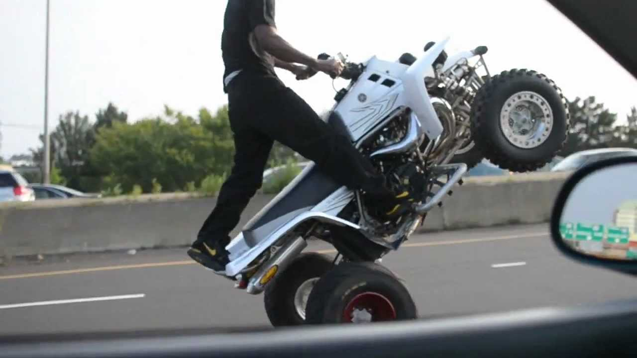 Banshee Wheelies Miles In Traffic Youtube