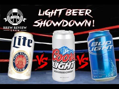 EPIC LIGHT BEER SHOWDOWN - Miller Lite vs. Coors Light vs. Bud Light | BRC Craft Beer Reviews