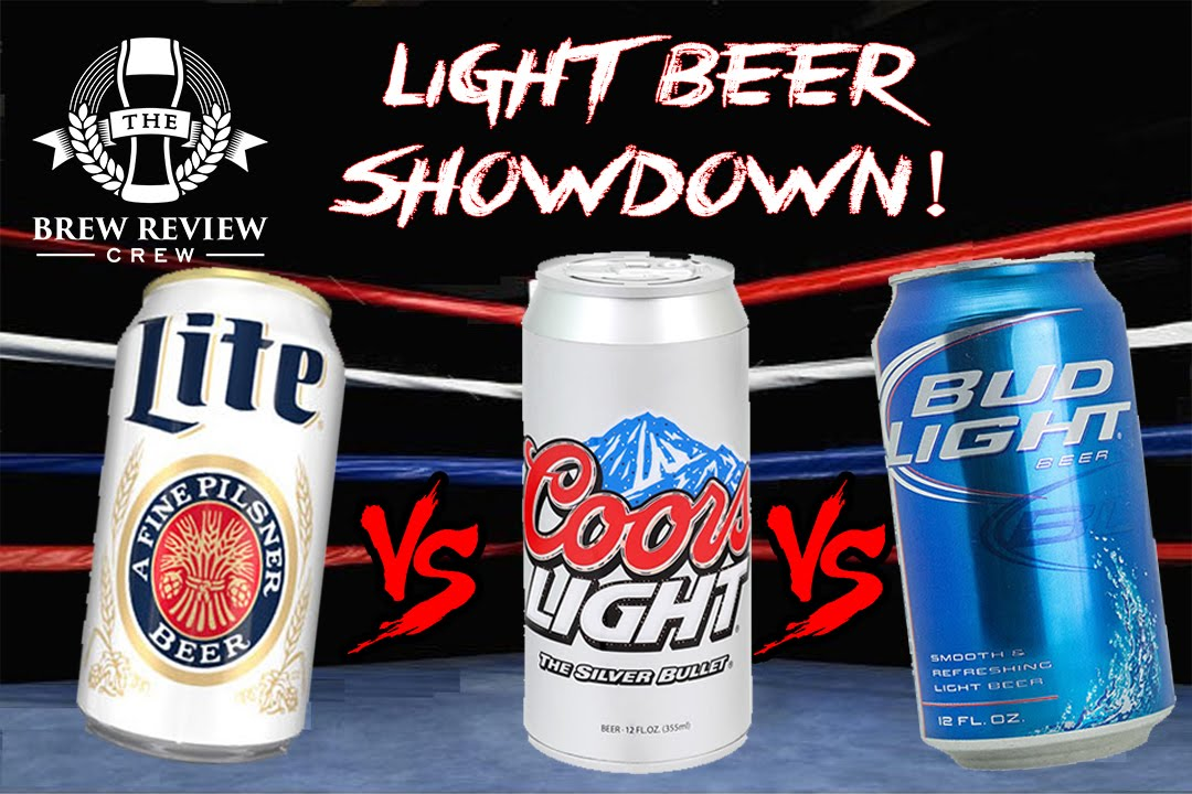 EPIC LIGHT BEER SHOWDOWN   Miller Lite Vs. Coors Light Vs. Bud Light | BRC  Craft Beer Reviews   YouTube