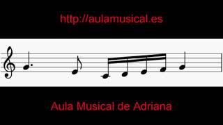 Ejercicios de lectura musical y entonación: negra con puntillo