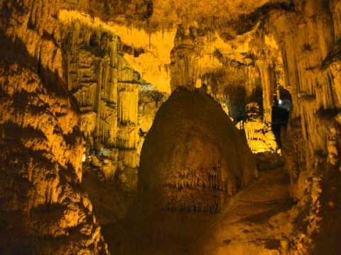 Inside the Grotto di Nettuno sardinia