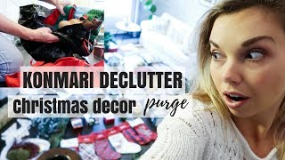 KONMARI METHOD DECLUTTER | CHRISTMAS DECORATIONS PURGE | Nesting Story